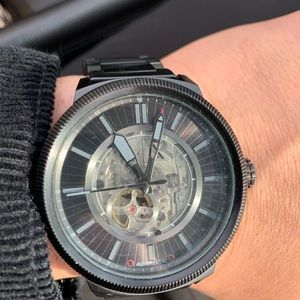 Armani exchange skeleton watch